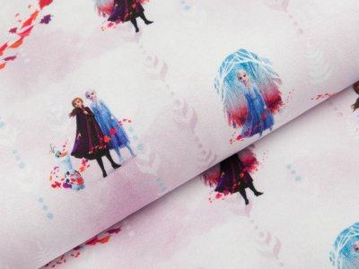 Jersey Swafing Disney-Frozen 2 - Anna und Elsa mit Olaf - zartes flieder