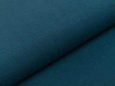 Glattes Bündchen im Schlauch Heike Swafing 100 cm breit - dunkles petrol