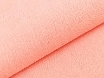 Glattes Bündchen im Schlauch Heike Swafing 100 cm breit - pfirsich
