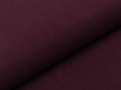 Glattes Bündchen im Schlauch Heike Swafing 100 cm breit - bordeaux