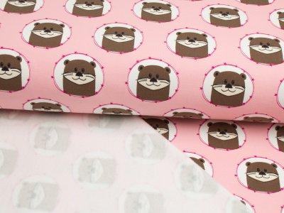 Angerauter Sweat Swafing Raik Otter im Kreis rosa