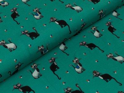 Jersey Swafing - Muy Felino - by Lila Lotta - mint