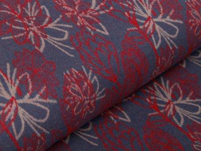 Jacquard Swafing Woodland Wonders Amanda by Jolijou - Blumen und Blätter - indigoblau