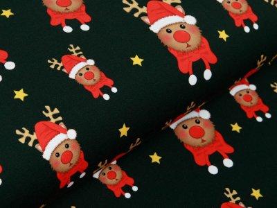 Sweat French Terry Swafing Toronto - Weihnachtselche und Sterne - tannengrün
