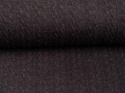 Struktur-Strickstoff Swafing Carmen- Zopfmuster - uni dunkles grau