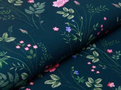 Jersey Swafing Jonne - Wiesenblumen - dunkles grün