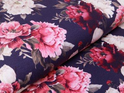 Jersey Swafing Jonne - Blütenbüsche - dunkles blau