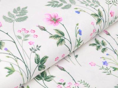 Jersey Swafing Jonne - Wiesenblumen - weiß
