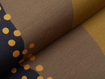 Sweat French Terry Modal Swafing PANEL ca. 75 cm x 160 cm Endless Sky by Käselotti - verrückte Streifen - khaki
