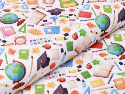 Webware Baumwolle Swafing Kim - verschiedene Schulsachen - weiß