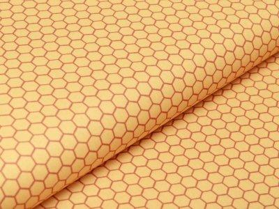 Webware Baumwolle Swafing Kim - Bienenwaben - sonnengelb