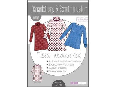 Papierschnittmuster ki-ba-doo TESSA Webwaren-Kleid - Damen