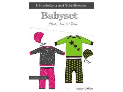 Papier-Schnittmuster Fadenkäfer BABYSET Hose, Shirt und Mütze