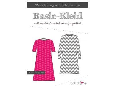 Papier-Schnittmuster Fadenkäfer Basic-Kleid Mädchen