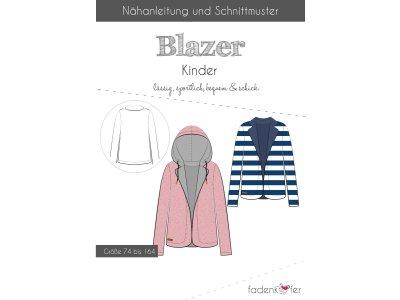 Papier-Schnittmuster Fadenkäfer - Blazer - Kinder
