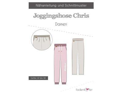 Papier-Schnittmuster Fadenkäfer - Joggingshose CHRIS - Damen