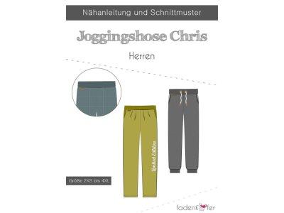 Papier-Schnittmuster Fadenkäfer - Jogginghose Chris - Herren