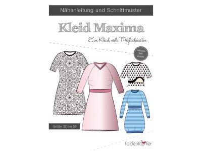 Papier-Schnittmuster Fadenkäfer MAXIMA Kleid Damen