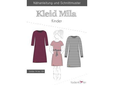 Papier-Schnittmuster Fadenkäfer - Kleid Mila - Mädchen