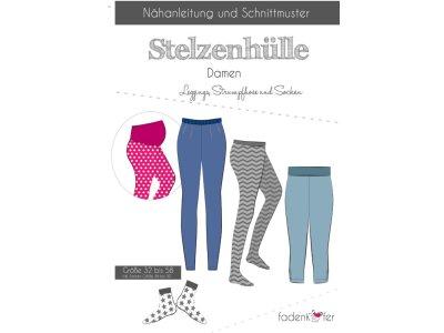 Papier-Schnittmuster Fadenkäfer Stelzenhülle Legging und Socken Erwachsene