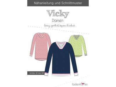 Papier-Schnittmuster Fadenkäfer - Pullover Vicky - Damen