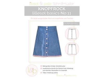 Papierschnittmuster lillesol basics No.11 Mädchen Knopfrock