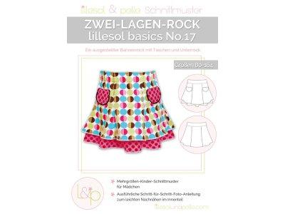 Papierschnittmuster lillesol basics No.17 Zwei-Lagen-Rock