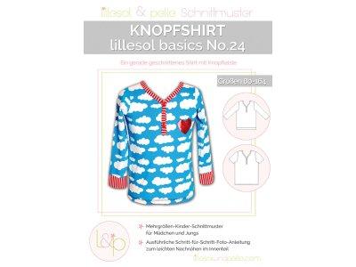 Papierschnittmuster lillesol basics No.24 Knopfshirt