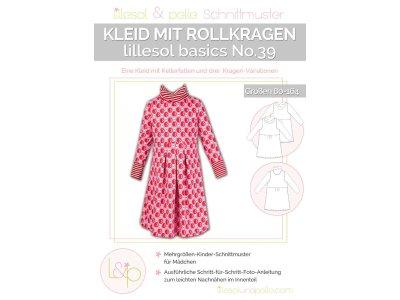 Papierschnittmuster lillesol basics No.39 Kleid mit Rollkragen