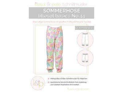 Papierschnittmuster lillesol basics No.44 Sommerhose