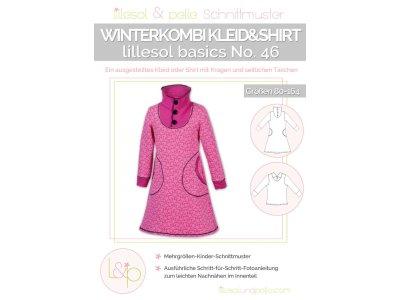 Papierschnittmuster lillesol basics No.46 Winterkombi Kleid & Shirt