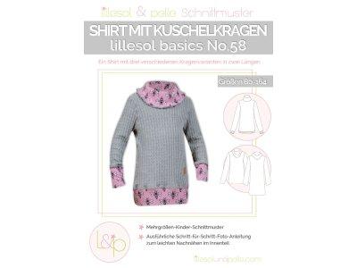 Papierschnittmuster lillesol basics No.58 Shirt mit Kuschelkragen
