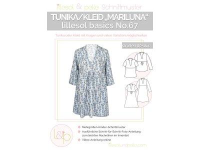 Papierschnittmuster lillesol basics No.67 Mädchen Tunikleid Mariluna