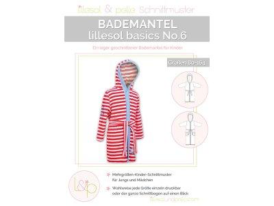 Papierschnittmuster lillesol basics No.6 Bademantel