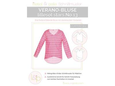 Papierschnittmuster lillesol stars No.13 Verano-Bluse