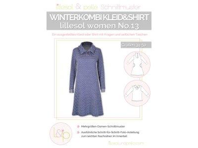 Papierschnittmuster lillesol women No.13 Winterkombi Kleid & Shirt
