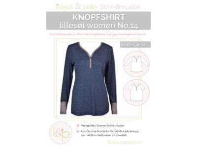 Papierschnittmuster lillesol women No.14 Knopfshirt