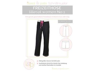 Papierschnittmuster lillesol women No.1 Freizeithose