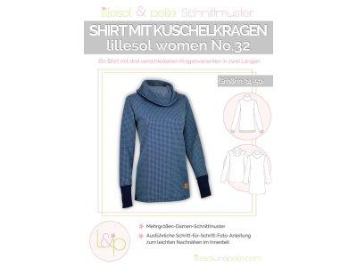 Papierschnittmuster lillesol women No.32 Shirt mit Kuschelkragen
