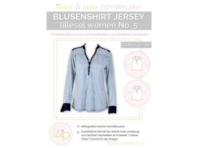 Papierschnittmuster lillesol women No.5 Blusenshirt Jersey
