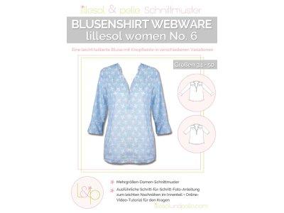 Papierschnittmuster lillesol women No.6 Blusenshirt Webware