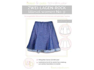 Papierschnittmuster lillesol women No.9 Zwei-Lagen-Rock