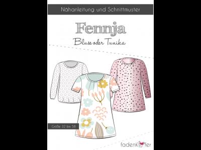 Papier-Schnittmuster Fadenkäfer FENNJA Bluse / Tunika Damen