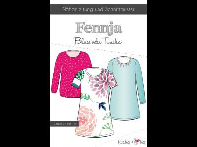 Papier-Schnittmuster Fadenkäfer FENNJA Bluse / Tunika Mädchen