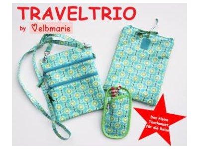 Papierschnittmuster elbmarie TRAVELTRIO 3er-Set - Taschen