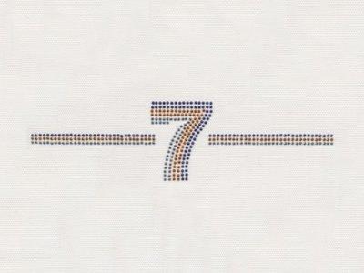 """Transfer Bügelbild 3er Set """"7"""" mit Strasssteinen"""