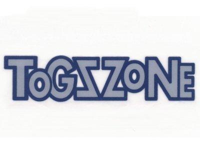 """Transfer Bügelbild """"ToGZZoNE"""" weiß-blau"""
