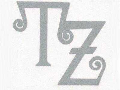 "Transfer Bügelbild ""TZ"" grau"