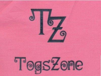 "Transfer Bügelbild ""TZ-TogsZone"" blau"