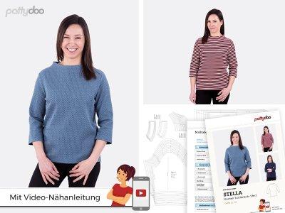 Papierschnittmuster pattydoo Turtleneck-Shirt STELLA - Damen